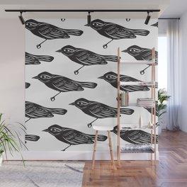 Paper Bird Cutout Wall Mural