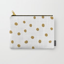Golden touch II - Gold glitter polka dots Carry-All Pouch