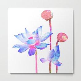 Minimalist Floral Mosaic 2 Metal Print