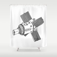 Satellite of Love Shower Curtain