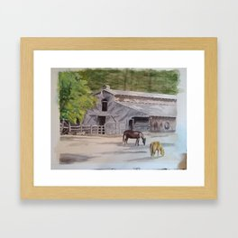 Old Horse Barn Framed Art Print