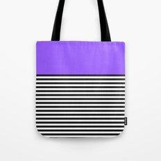 STRIPE COLORBLOCK {PURPLE} Tote Bag