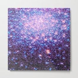 GaLaxY Stars : Pink Purple Blue Metal Print