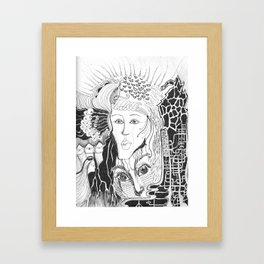 Just say the word Framed Art Print