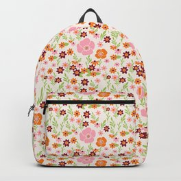 Pretty Retro Floral Backpack
