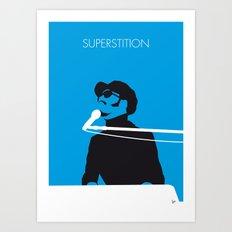 No039 MY STEVIE WONDER Minimal Music poster Art Print