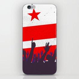 Washington DC Flag with Audience iPhone Skin