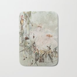 """Exotics at Play"" by Duncan Carse Bath Mat"