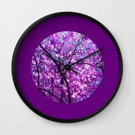 purple tree XXXIII Wall Clock