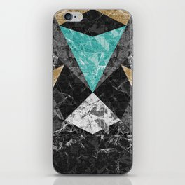 Marble Geometric Background G430 iPhone Skin