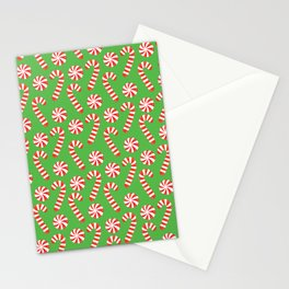 candy canes and peppermints Stationery Cards
