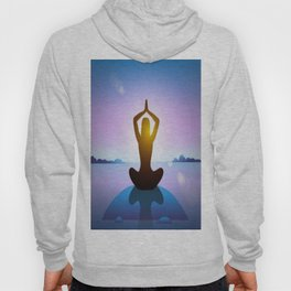 Yoga Studio Calming Purple / Blue Sukhasana Pose Hoody