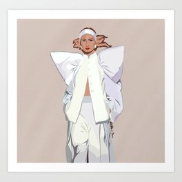 White suit Art Print