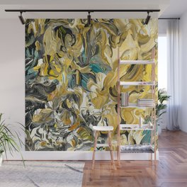 Marble Golden Planet Wall Mural