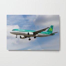 Aer Lingus Airbus A320 Metal Print