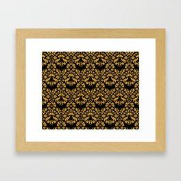 Golden ornament in baroque style Framed Art Print