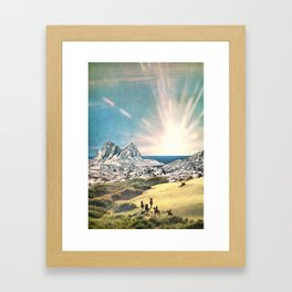 In A Beautiful Place Out In The County Framed Art Print
