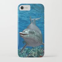 dolphins iPhone & iPod Cases featuring Dolphins by Simone Gatterwe