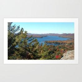 Autumn Adirondack lake Art Print
