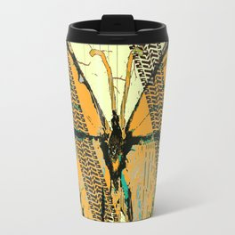 ROADKILL MONARCH BUTTERFLY  & TIRE TRACKS ART Travel Mug