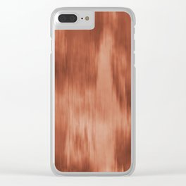 Fusion Water Color Blend Sherwin Williams Cavern Clay SW7701 Clear iPhone Case