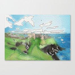 Dunluce Castle Canvas Print