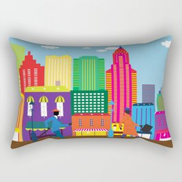 Business day in the city Rectangular Pillow