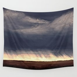Storm Over Saskatchewan Fields Wall Tapestry