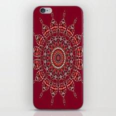 Cozy Cabin (burgundy red) iPhone & iPod Skin