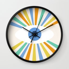 All Seeing Evil Eye Wall Clock