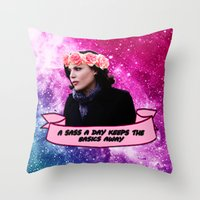 regina mills Throw Pillows featuring Regina Mills / Lana Parrilla by Long live the Evil Queen♔