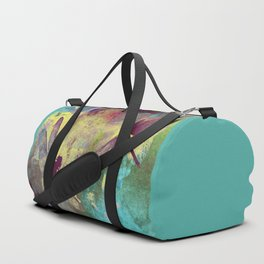 Painting Orchids and Dragonflies Duffle Bag