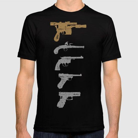 A long time ago with a blaster far, far away... T-shirt