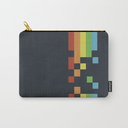 1980s Colorful Vintage Bitmap Pixel Carry-All Pouch