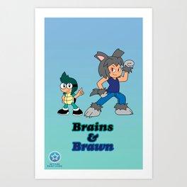 Shiro and Mike-Brains and Brawn Art Print