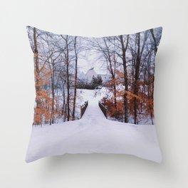 snow white. Throw Pillow
