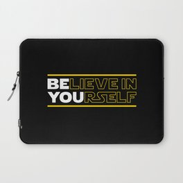 Believe In Yourself (Be You) Typography Laptop Sleeve