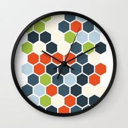 HEXAGONS - Blorangreen Wall Clock
