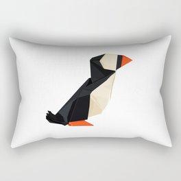 Origami Puffin Rectangular Pillow