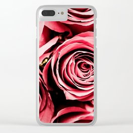 Moonlight & Roses Clear iPhone Case