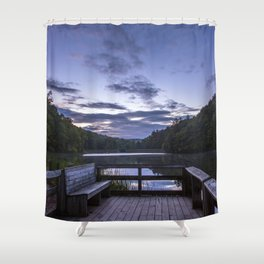 Sunrise at Longbranch Lake Shower Curtain