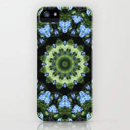 Forget-me-nots, Nature Flower Mandala, Floral mandala-style iPhone Case
