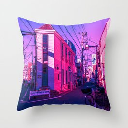 Tokyo During Pink Hour  Throw Pillow