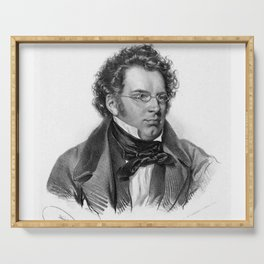 Kriehuber- Portrait of Schubert Serving Tray
