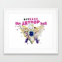 artrave Framed Art Prints featuring ARTPOP artRAVE by KS Art
