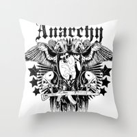 sons of anarchy Throw Pillows featuring Anarchy by Tshirt-Factory