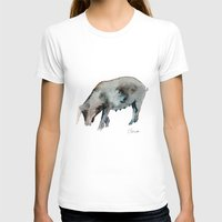 pig T-shirts featuring Pig by Elena Sandovici