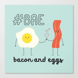 Bae Mug | Bacon and Eggs Canvas Print