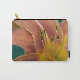 Orange Daylily aka Tiger Lily Carry-All Pouch