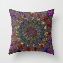 Fractal Helix Throw Pillow